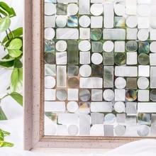 CottonColors PVC Waterproof Privacy Window decorative Film No-Glue 3D Static Decorative Glass Stickers Size 45x 100cm