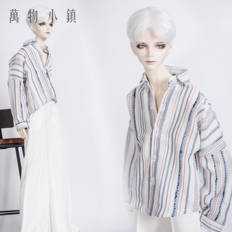 New Uncle 1/3 1/4 BOY Girl BJD SD MSD Doll Clothes Stripe Bat sleeve chiffon Shirt new handsome fashion stripe black gray coat pants uncle 1 3 1 4 boy sd10 girl bjd doll sd msd clothes