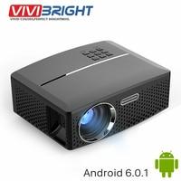 VIVIBRIGHT LED Projector GP80 1800 Lumens Ultra Silence Simple Beamer Set In HDMI VGA USB AV