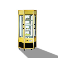 CL608FL2X4 980W 520L 4 Layer Transparent Cake Showcase Supermarket Fruit Vegetable Cake Display Freezer Commercial Refrigerator