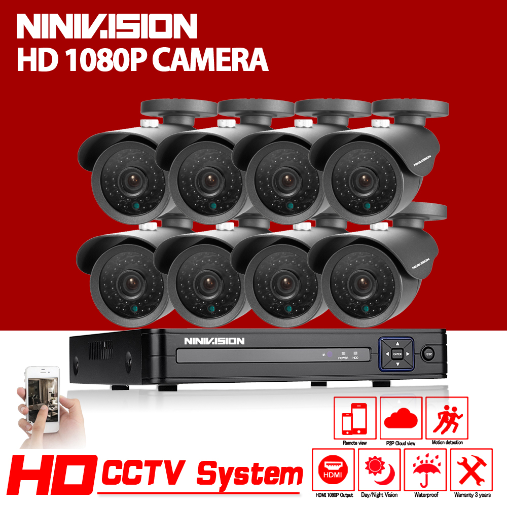 Home HD 8CH CCTV System 1080P DVR 8PCS 1080P 3000TVL IR Outdoor Video Surveillance Security Camera System 8 channel CCTV Kit hd 8ch cctv system 720p dvr 8pcs 720p 1200tvl ir outdoor video surveillance security camera system 8 channel dvr kit