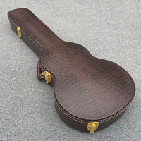 High quality LP guitar hard case,Crocodile skin red,There are drum belly,Support custom sizes,Real photos,free shipping