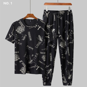 Image 3 - Sommer Mann Kleidung Set 2 Zwei Stück Top und Hosen 2019 Trainingsanzug Männer Sets T Shirt Plus Größe 6XL 7XL 8XL 9XL Sport Herren Camiseta