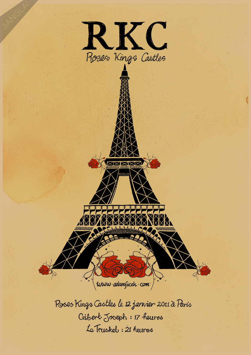Modern Eiffel Tower Wall Art Illustration - The Wall Art Decorations ...