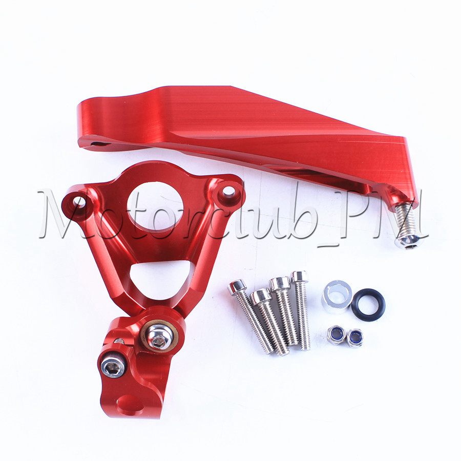 For Honda CBR600RR Steering Damper Stabilizer Bracket Mounting Holder 2007-2016 2008 09 2010 2015 Replacement New Red fxcnc aluminum motorcycle steering stabilizer damper mounting bracket support kit for yamaha fz1 fazer 2006 2015 2007 2008 09