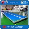 6*2 m caída inflable mat, tumbling pista de aire para gimnasio, pista caída inflable gimnasio
