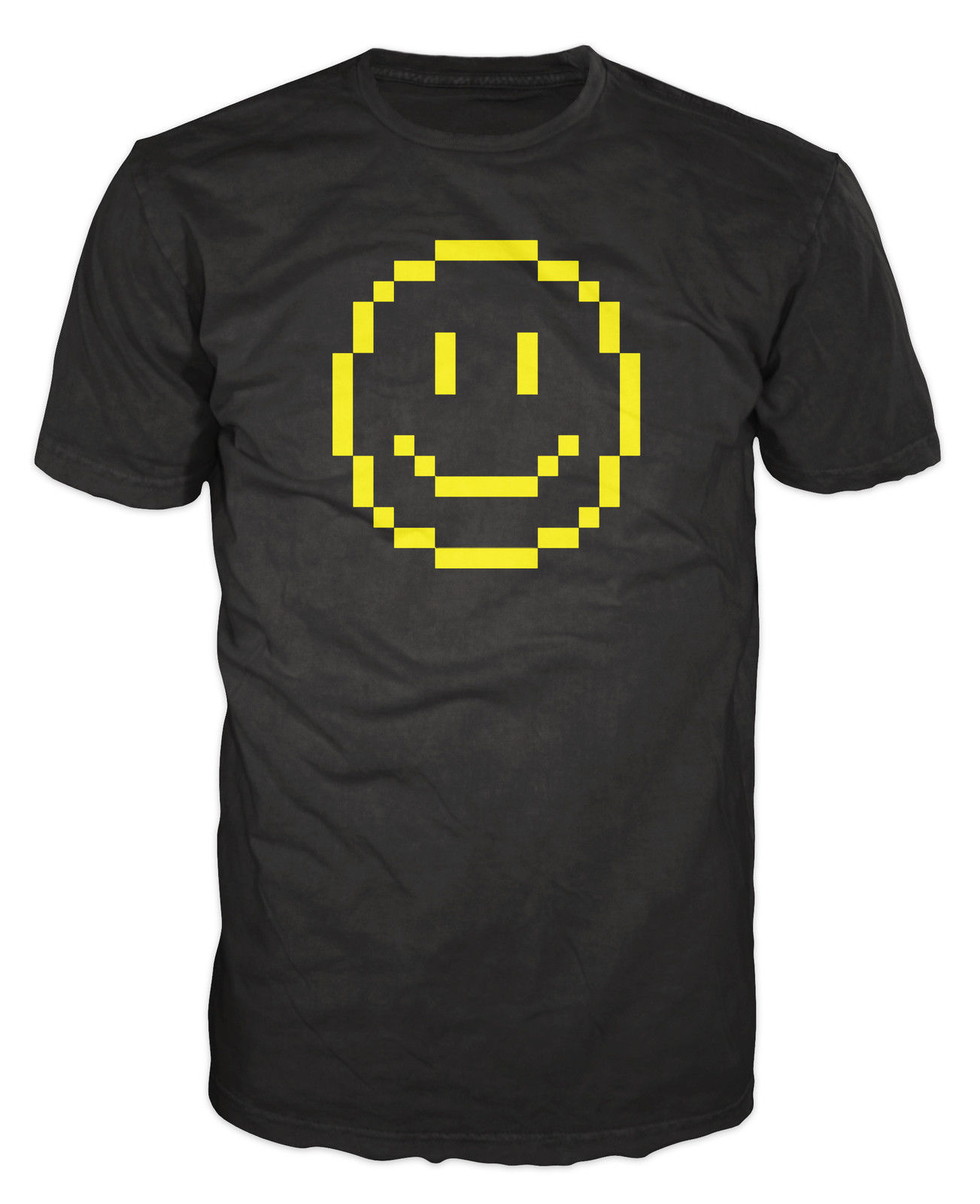 Pixelated Smiley Retro Funny Classic Video Game Geek 80s 90s MenS High Quality Tees top tee