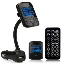 LCD Car Kit MP3 Bluetooth Player FM Transmitter Modulator SD MMC USB Remote for IPhone Cellphone Smartphones