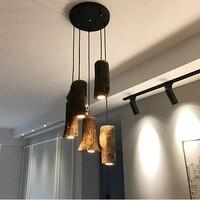 산업 램프 펜 던 트 조명 led 북유럽 전등 트리 폴 로프트 스타일 나무 빈티지 luminaires lampara techo congante
