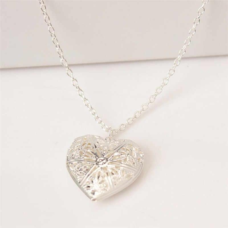 Fashion Hati Berbentuk Persahabatan Bingkai Foto Liontin untuk Kalung Romantis Fashion Perhiasan Hadiah Bagus untuk Anak Perempuan