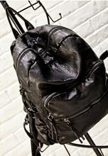 Год сбора винограда способа рюкзак 2015 новый стиль искусственная кожа сумка мужчин и женщин рюкзак школьный Колледж Ветер