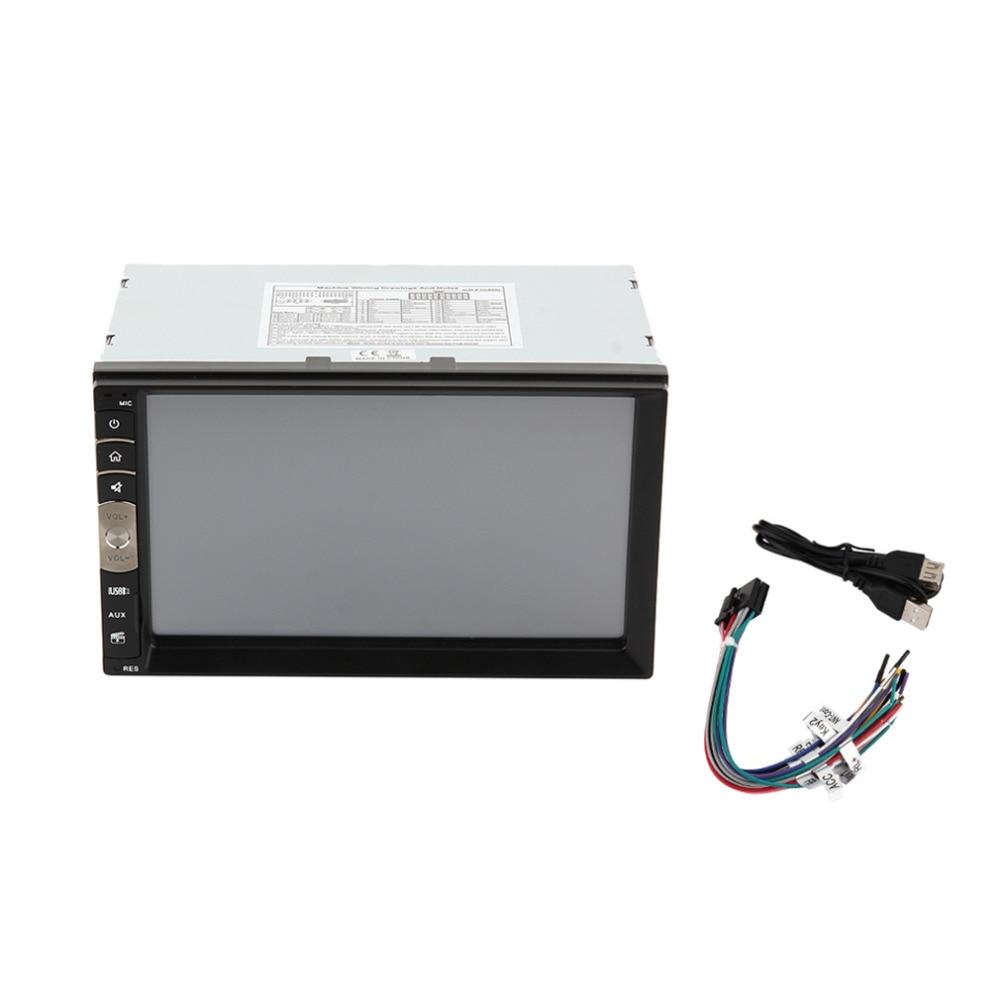 Универсальный 7-дюймовый экран HD Смарт-автомобилей стерео проигрыватель Аудио модуль Bluetooth 2.1 FM-радио/MP3/МР4/МР5 ТФТ