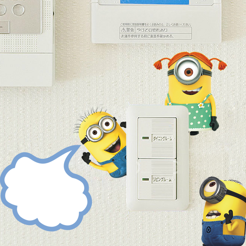 Minion Wall Decor popular minions decal wall-buy cheap minions decal wall lots from