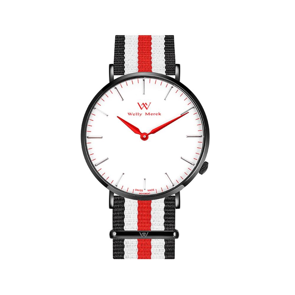 Welly Merck Brand Ladies Nato Quartz Watch Women Casual цена и фото