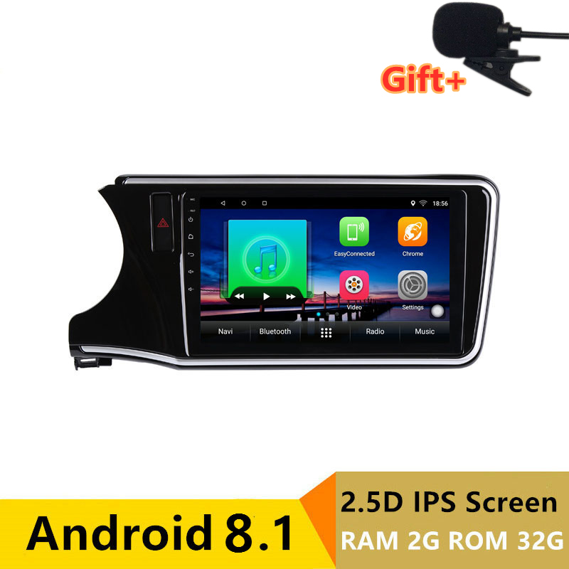 "10.1"" 2.5D IPS 2G RAM 32G ROM Android Car DVD Video Player GPS For HONDA CITY 2014 2015 2016 2017 audio car radio stereo"