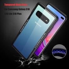 For Samsung Galaxy S10 E Case Original Glossy Tempered Glass Plus Shockproof PC Back Cover S10E