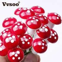 Vvsoo 12/24/36PCS Christmas Decorations Mini Red Mushroom Shape Ornament Miniature Plant Pots Fairy Holiday Home Christmas Decor