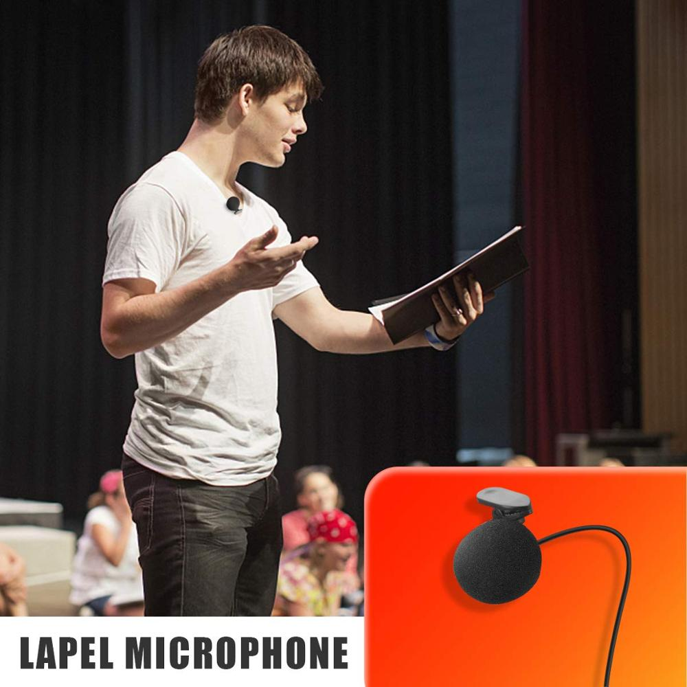"""Image 5 - Lefon UHF Wireless Headset Microphone Lavalier Lapel Mic with Bodypack Transmitter and Mini Rechargeable Receiver 1/4"""" Output-in Microphones from Consumer Electronics"""