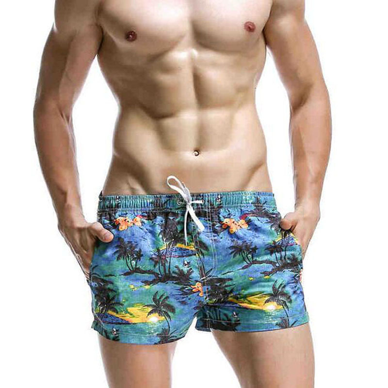 Seobean 2019 New Men   Shorts   Swim Wear Summer Beach   Board     Shorts   Surf Swim   Shorts   Badehose Quick Dry   Short   De Bain Homme