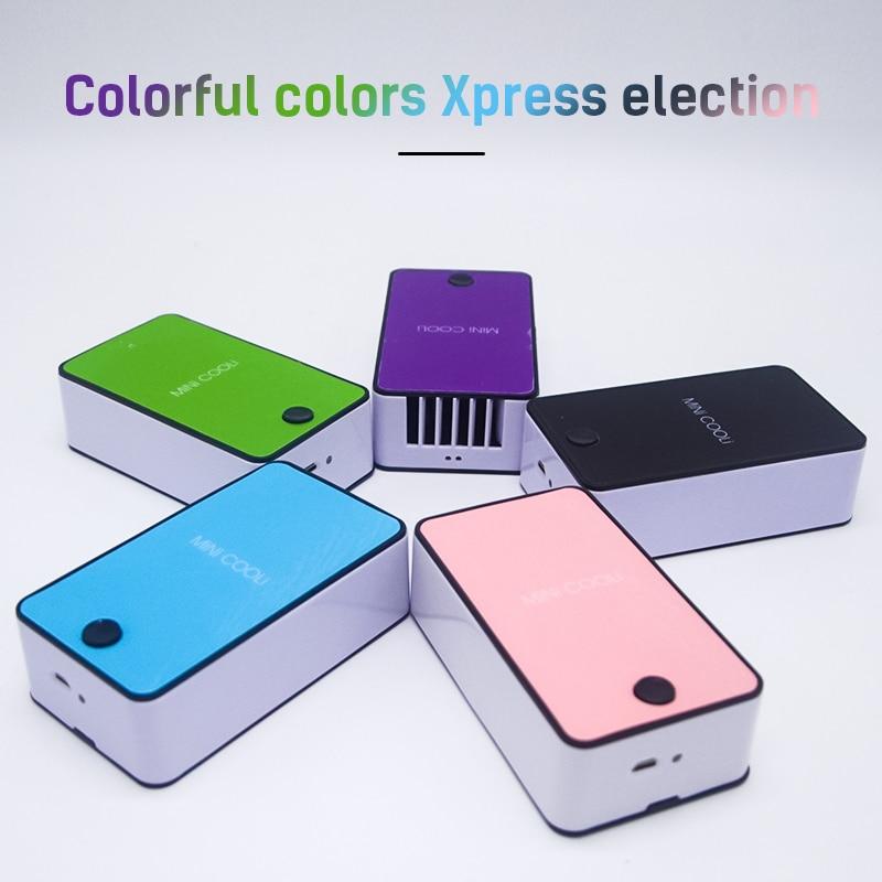 Handheld Mini Air Conditioner Usb Fan Rechargeable Leafless Cooler Fans Silent Desktop Desk Personal Cooling Air Conditioner