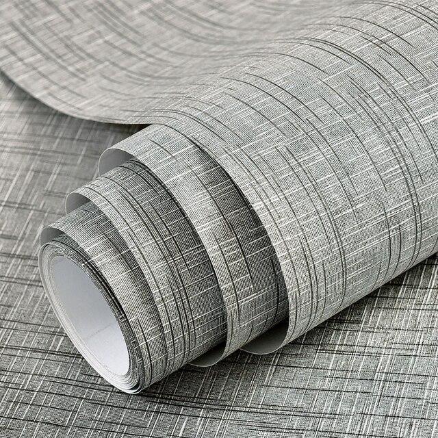 Плотные самоклеющиеся серые льняные однотонные обои для гостиной ТВ фон водонепроницаемый Dormitory Vliny стикер на стену