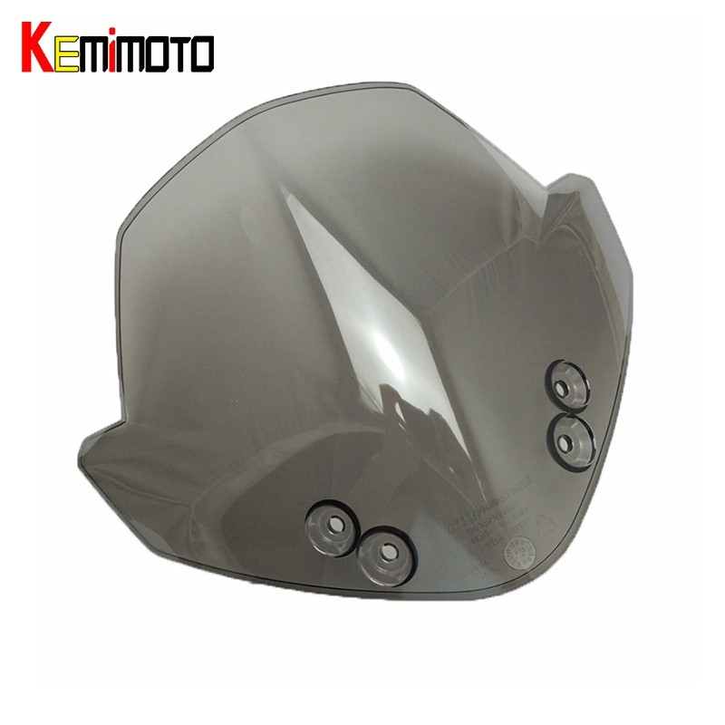 KEMiMOTO For KTM 125 200 390 for KTM Duke RC390 RC125 RC200 Wind Screen Smoked Motorcycle Windscreen Windshields Headlight Cover cnc brake clutch gear pedal lever for ktm duke 125 200 390 rc125 rc200 rc390 2014 2015 2016 gray silver orange aluminum alloy