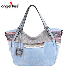 c50bb45a2660 (Ship from US) Angelkiss Brand Women Canvas Handbag Shoulder Bags For Women  Tribal Pattern Style Messenger Bags High Quality Tote bags