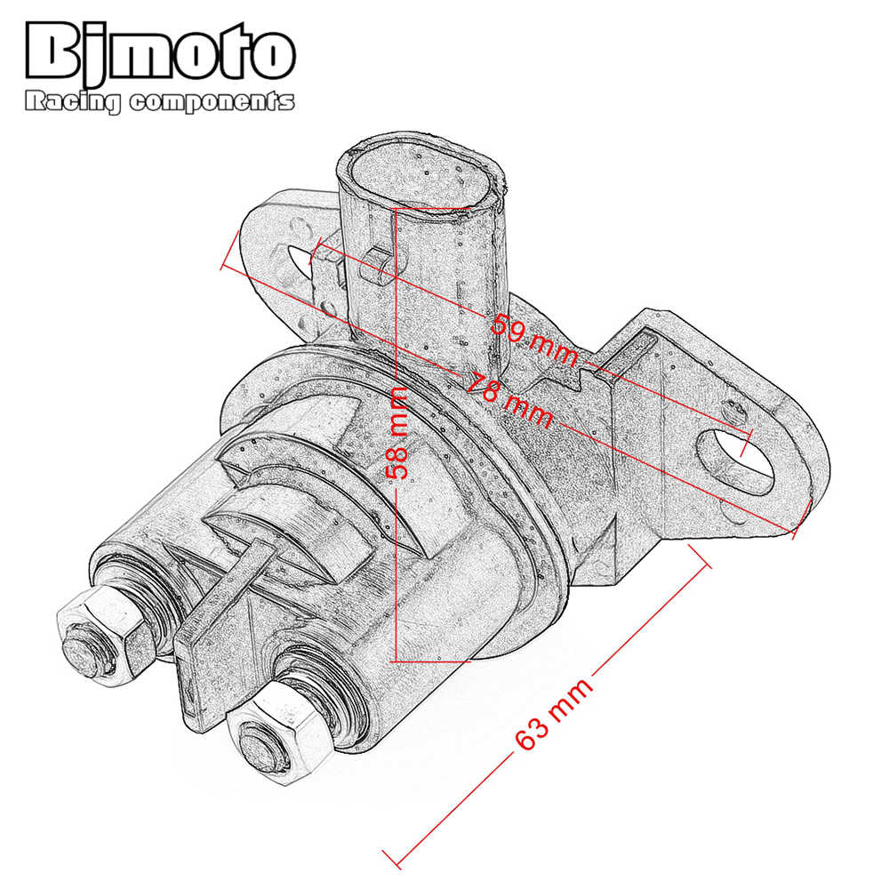 bjmoto motorcycle starter relay solenoid for sea doo sportster 1800 720 gsx rfi 800 explorer  [ 1000 x 1000 Pixel ]