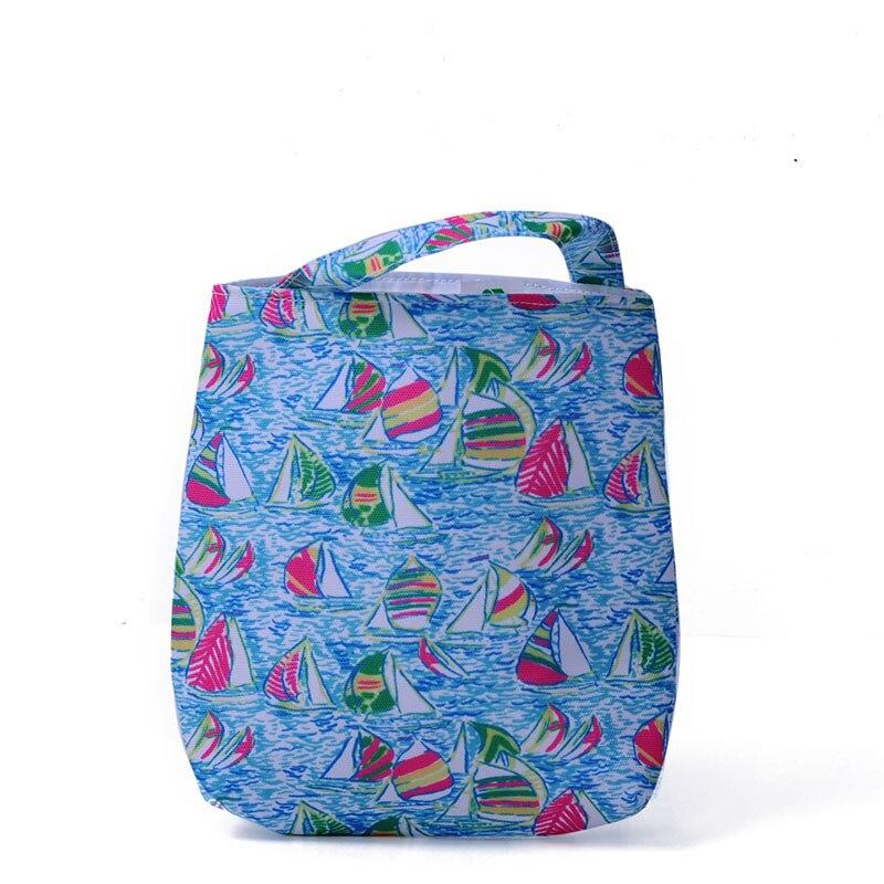 Wholesale Blanks Rose Lilly Car Trash Bag Flamingo Canvas Fabric Accessory Trash Holder Little Trash Bin DOM10608
