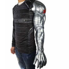 2018 New Winter Soldier Arm Captain America 3 Bucky Barnes Armour Cosplay Avengers High Level Latex Man Hot Sale