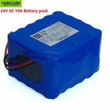 Varicore 24v 10ah 6s5p 18650 bateria de lítio 25.2v 10000mah bicicleta elétrica ciclomotor/elétrica/li ion bateria