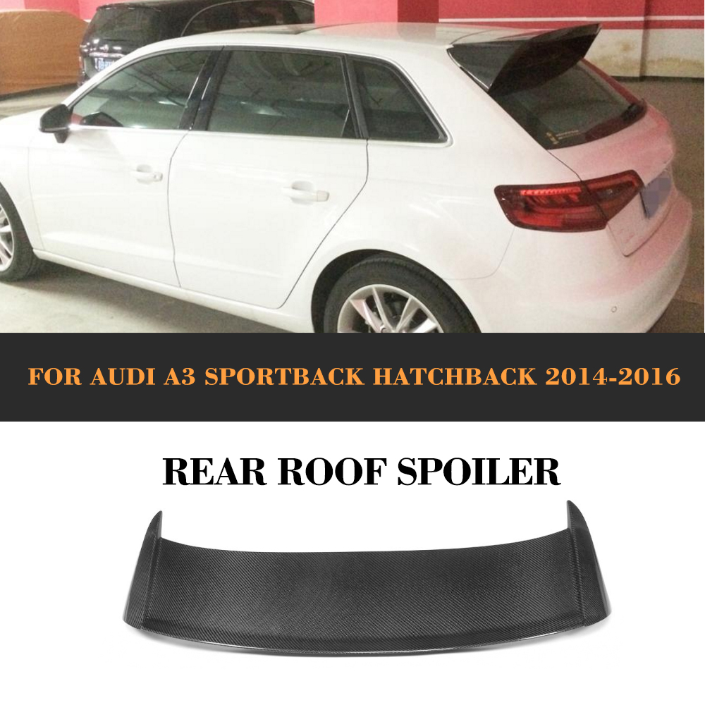 Carbon Fiber Rear Trunk Lip Spoiler Wing For Audi A3 Hatchback 2014 2015 2016 JC Style Car Cover carbon fiber rear spoiler trunk boot wing for audi a7 s7 s line 2012 2015 jc style car tuning parts