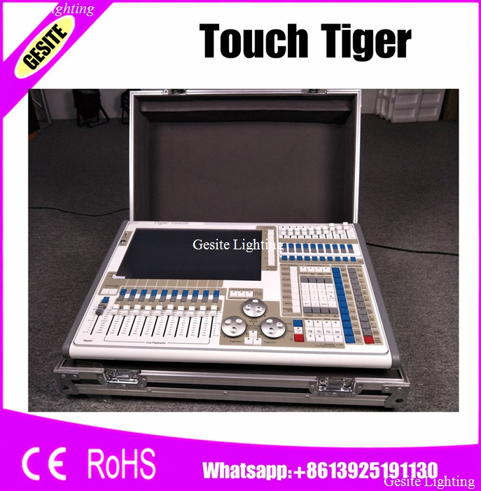 Tiger Touch Controller Stage Light,DMX Controller LED Stage Lighting 2048/4096 DMX Channels DMX512 console With Flight case high quality ma controller ma onpc commond wing dmx lighting console 1536 channels with flight case