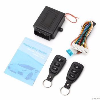 Universal Car Door Lock Vehicle Keyless Entry System Remote Central Kit w/Control Box chadwick one way car alarm security system for lada toyota suzuki universal remote control door lock keyless entry system 8171