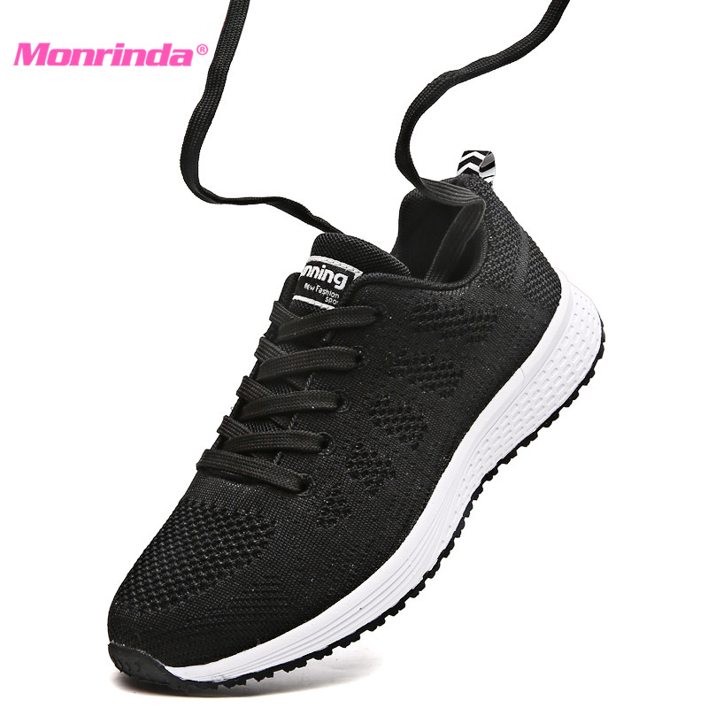2018 Autumn Women Sneakers Breathable Mesh Womens Running Shoes Lightweight Sport Shoes Woman Jogging zapatillas mujer deportiva