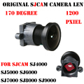 2016 mais novo de 170 graus 1200 pxiel sjcam sj4000 câmera len para sj4000 sjcam sj5000 sj6000 sj 4000 wi-fi sj7000 sj8000 sj9000 câmera