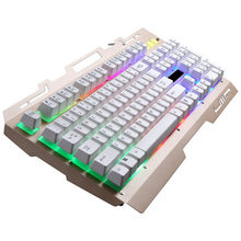 35 @ Keyboard Gaming Putih G700 LED Rainbow Warna Backlight Gaming Permainan USB Kabel Keyboard 5% 15(China)