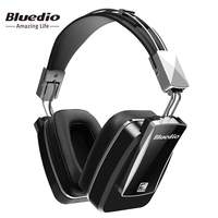 Bluedio F800 Active Noise Cancelling Wireless Bluetooth Headphones Junior ANC Edition Around The Ear Headset Black
