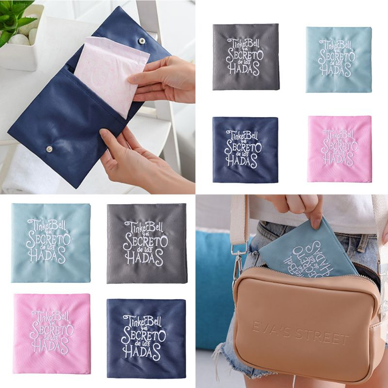 Women Girl Embroidery Sanitary Napkins Pads Carrying Easy Bag Pouch Case Bag Organizer in Cosmetic Bags Cases from Luggage Bags