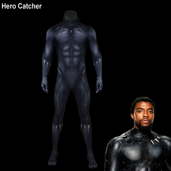 Hero Catcher Top Quality New Black Panther Costume 2018 Black Panther Suit For Man Newest Panther Cosplay Costume