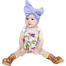 Baby Girl Floral Short Sleeve Romper