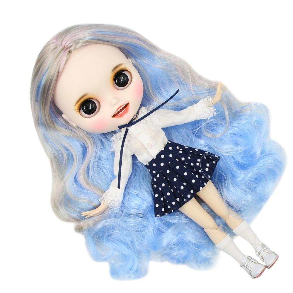 Blyth Doll Icy Doll Toy Clothes Campus School Uniform Shirt Skirt, Only Clothes