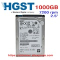 """HGST 1 TB 1000 GB HDD portátil unidad de disco duro SATA3 SATA III 7200 rpm 32 M 2.5 """"9.5mm sola placa HTS721010A9E630"""