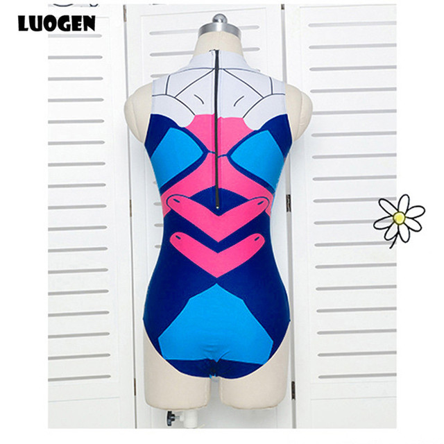 Sexy Game OW D.VA Dva Mercy Cosplay Costume One Piece Swimwear Evangelion EVA Swimsuit SUKUMIZU S-L
