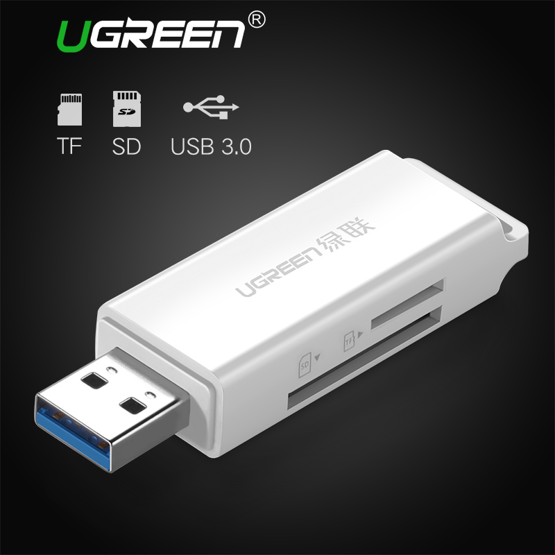 Ugreen USB 3.0 Card Reader Super Speed Mini SD TF Memory Card Reader for MacBook Max Support 256GB Micro SD Cardreader USB 3.0 ssk scrm056 usb 3 0 5gbps high speed multifunctional card reader white silver grey max 64gb