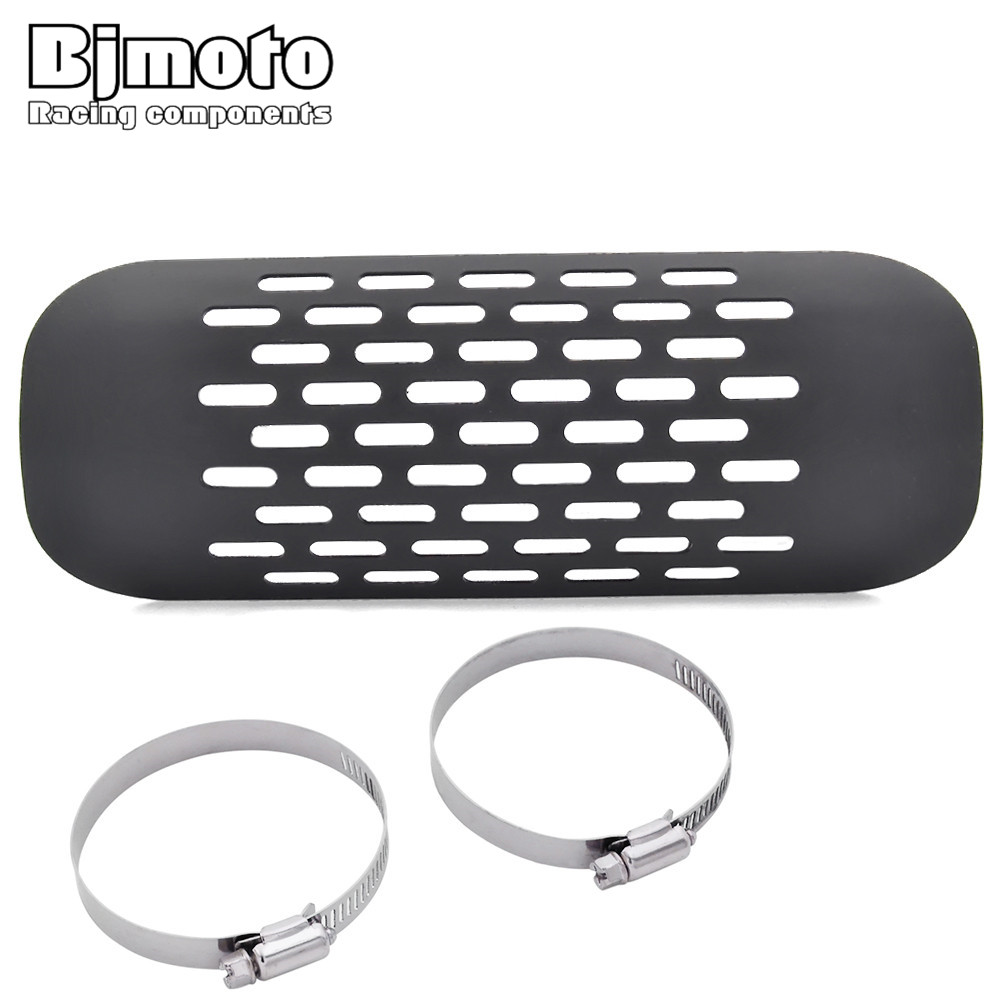 BJMOTO Motor Pipe Heat Shield Cover for Harley Honda Suzuki Yamaha Universal Motorbike Accessories Mufflers Motorcycle Exhaust