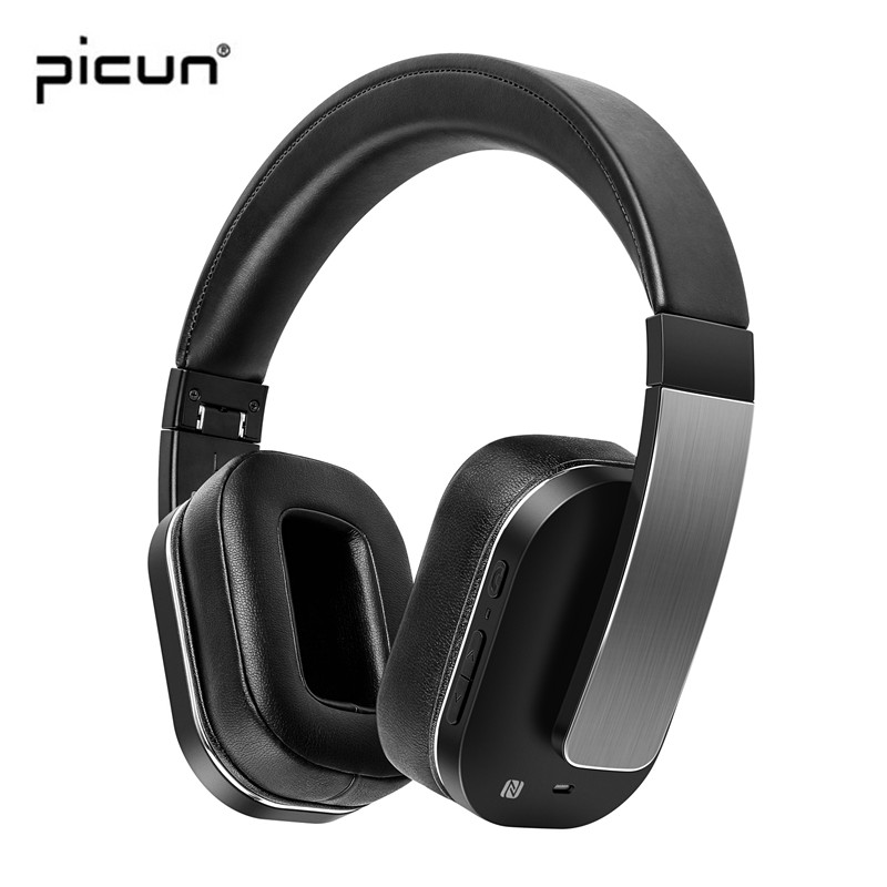 Picun F9 Active Noise Cancelling Wireless Headphones Bluetooth Gaming Headset with NFC Mic for xiaomi for sony PC laptap oneodio professional studio headphones dj stereo headphones studio monitor gaming headset 3 5mm 6 3mm cable for xiaomi phones pc