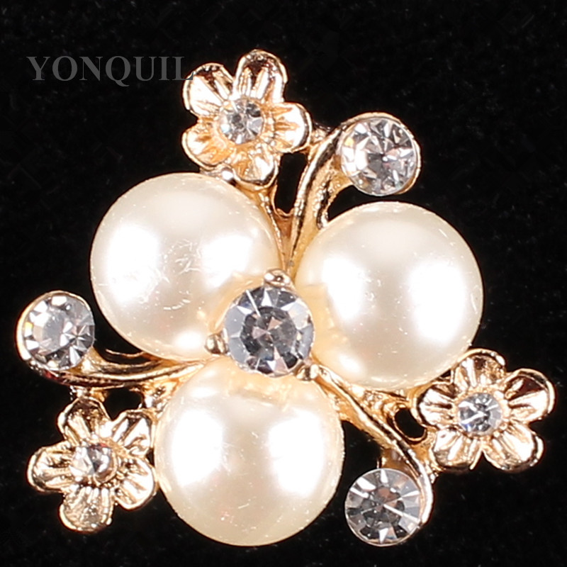 Fashion Imitation peals rhinestone women brooch material for cocat hats wedding cloth DIY jew aaccessories 15pcs/lot SYBB109