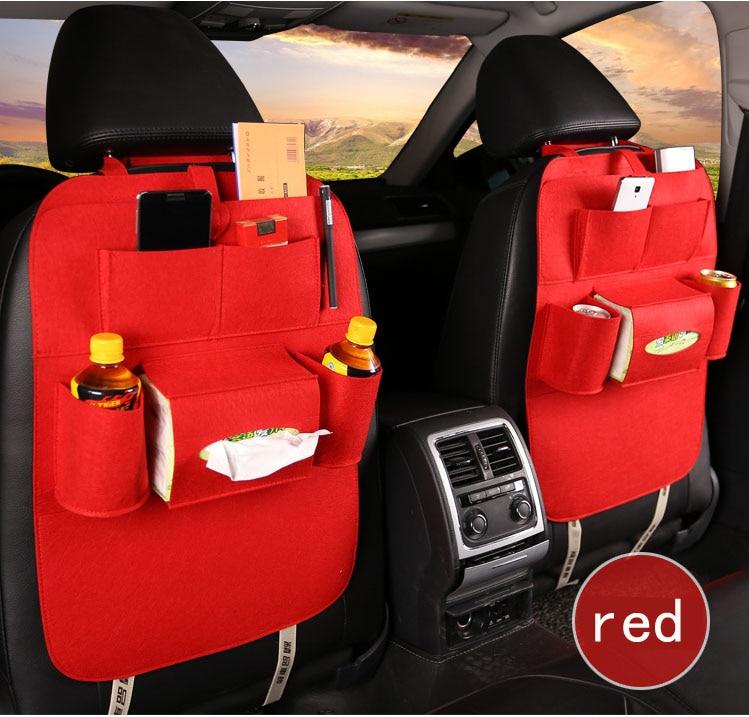 Us 649 Czarny Szary Czerwony Pojedynczy Fotel Samochodowy Wielu Kieszeń Podróży Worek Do Przechowywania Wieszak Z Powrotem Pokrycie Siedzenia
