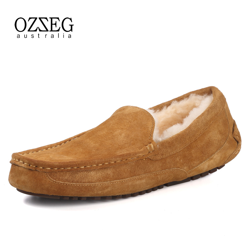 Warm Fur Men Shoes Genuine Leather Flat Loafers Winter Casual Shoes Comfort Driving Moccasins Top Quality Man Shoe Slip on Brand vesonal brand casual shoes men loafers adult footwear quality ons boat soft driving genuine leather man mocassin male walking